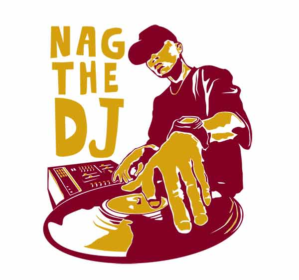 Nag the DJ t-shirt for men and women, music t-shirts for men and women, festival t-shirts