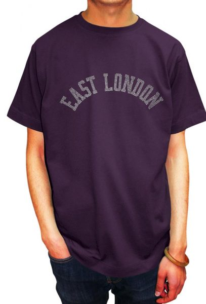 East London T-shirt Diamante and Nail Heads, Men's T-shirt, Women's T-shirt, T-shirt UK, T-shirt London, Savage London.
