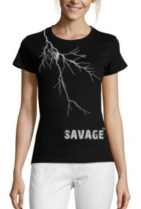 savage-lightning-t-shirt-womens-london-t-shirt-printing-1