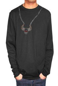 Skull and Wings T-shirt Diamante and Nail Heads, Men's T-shirt, Women's T-shirt, T-shirt UK, T-shirt London, Savage London.