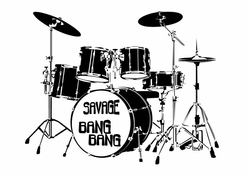 Savage Bang Bang music t-shirt design