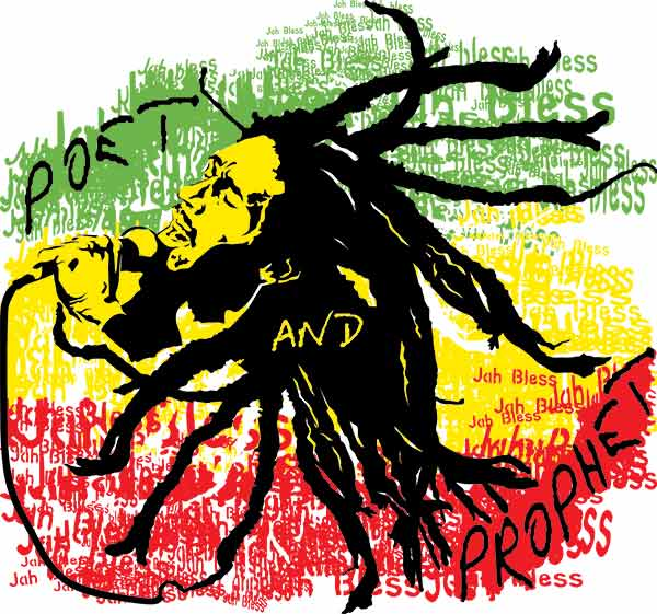 Poet and Prophet Bob Marley T-shirt Design for Men and Women