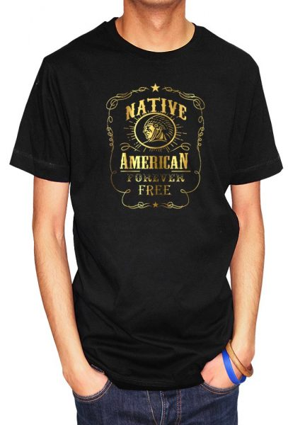 Natives are Free (Native Americans Design) T-shirt Foil Print, Men's T-shirt, Women's T-shirt, T-shirt UK, T-shirt London, Savage London.