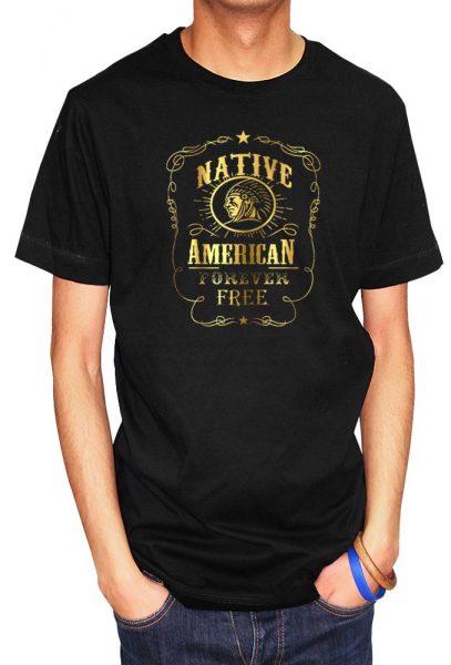 Natives are Free (Native Americans Design) T-shirt Foil Print, Men's T-shirt, Women's T-shirt, T-shirt UK, T-shirt London, Savage London.