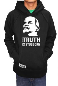 Lenin Hoodie (The Truth Is Stubborn), Men's T-shirt, Women's T-shirt, T-shirt UK, T-shirt London, Savage London.