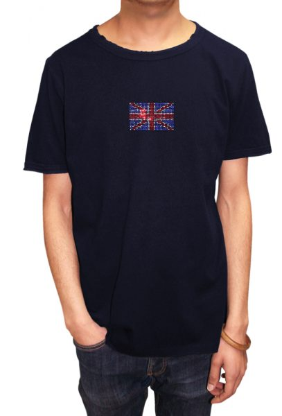 Union Jack T-shirt Diamante, Men's T-shirt, Women's T-shirt, T-shirt UK, T-shirt London, Savage London.